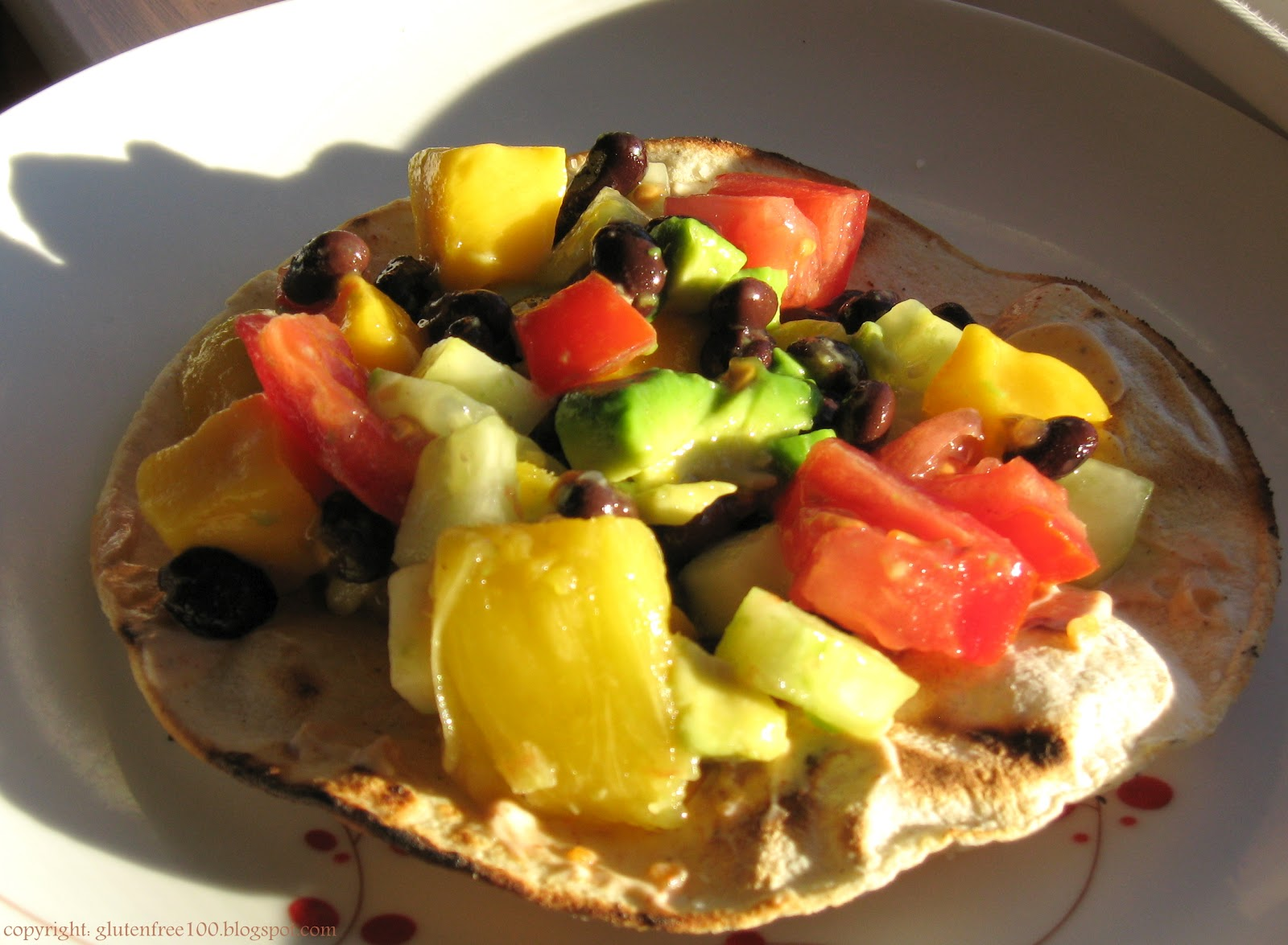 Gluten Free Black Bean & Mango Grilled Tostadas Recipe