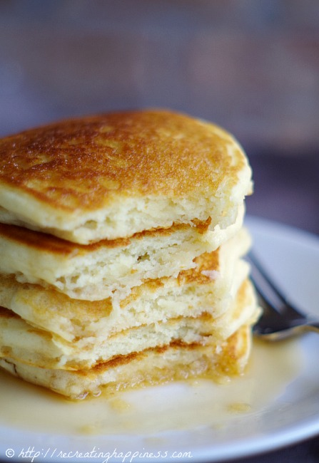Gluten Free Pancakes recipe | Light & Fluffy
