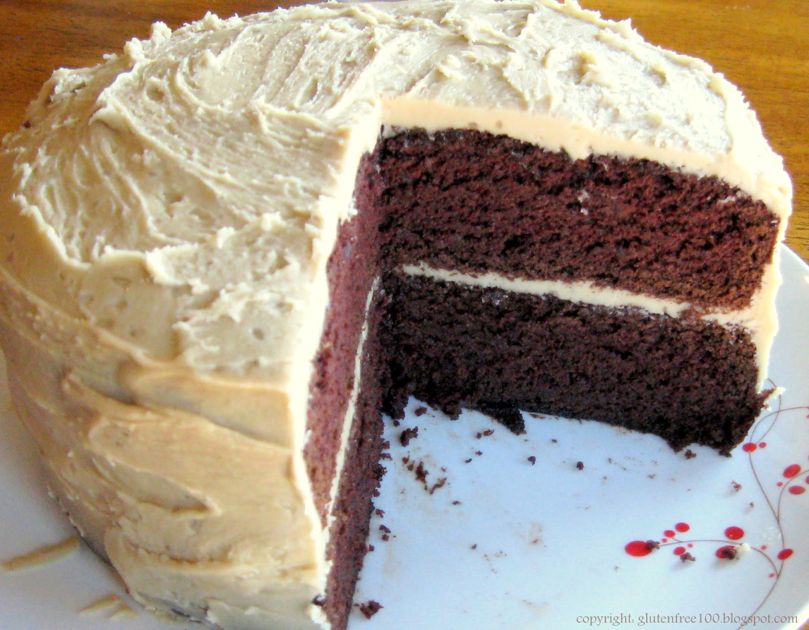 Gluten Free Devil's Food Cake with Salted Caramel Frosting Recipe