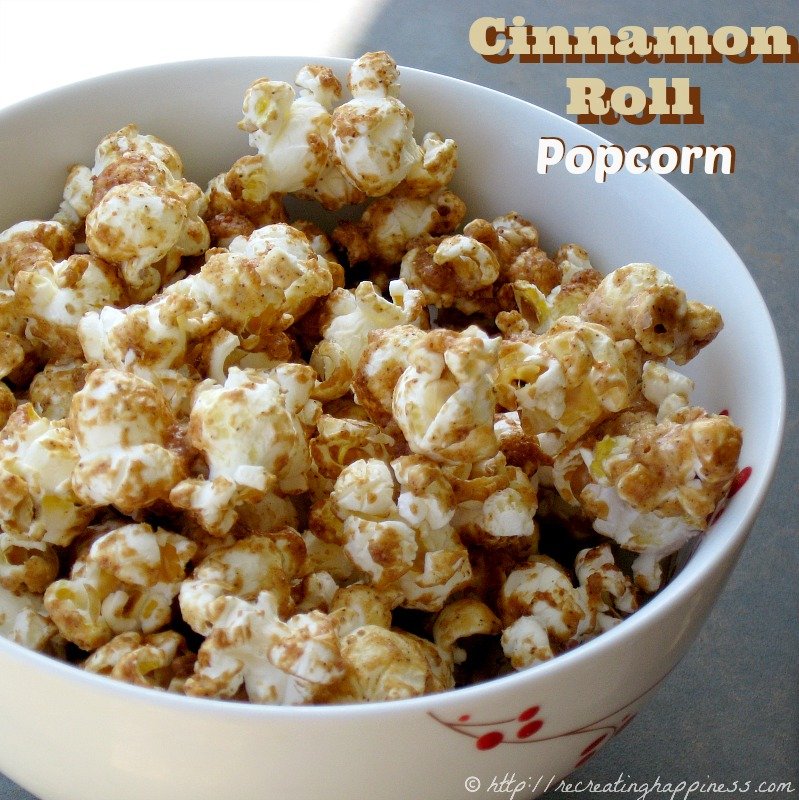 Cinnamon Roll POPCORN - very addictive!  #GF #popcorn