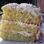 Gluten Free 3 Layer Coconut Cake with Lemon Cream Cheese Icing Recipe