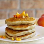Gluten Free Spiced Peach Pancakes Recipe
