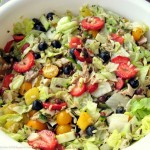 Fresh Fruit & Grains Salad with Lemon Basil Dressing Recipe