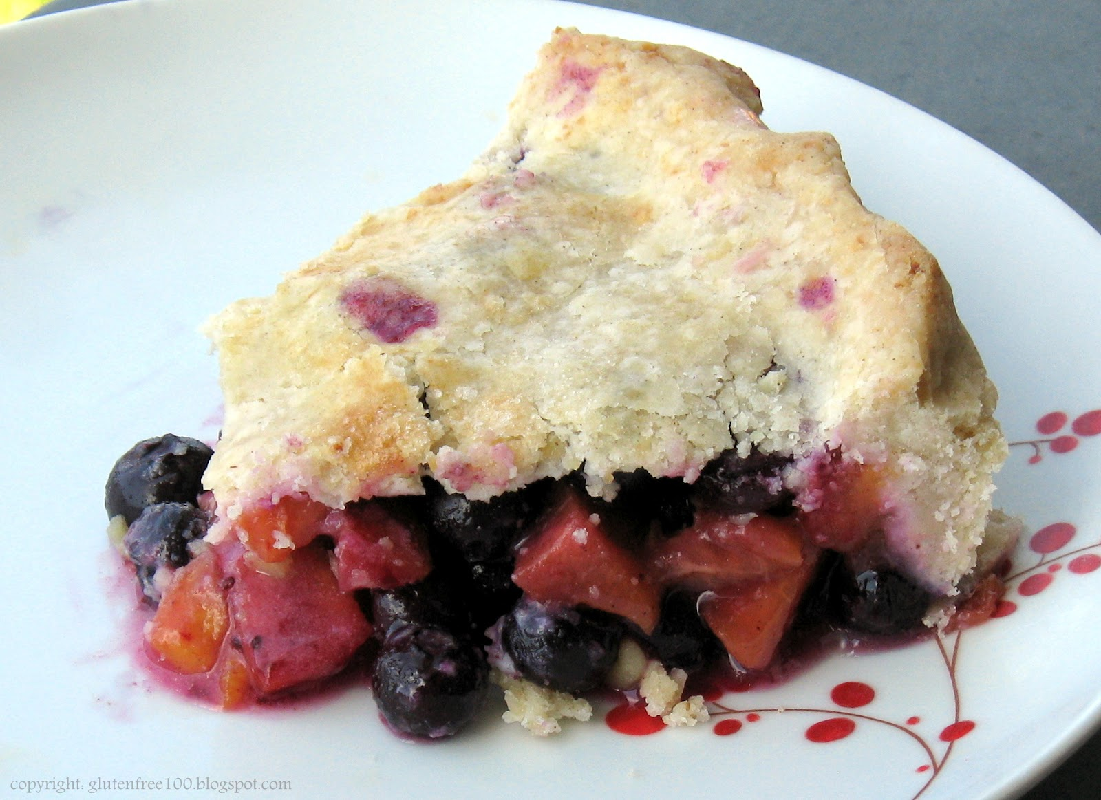 Gluten Free Peach Blueberry Pie Recipe