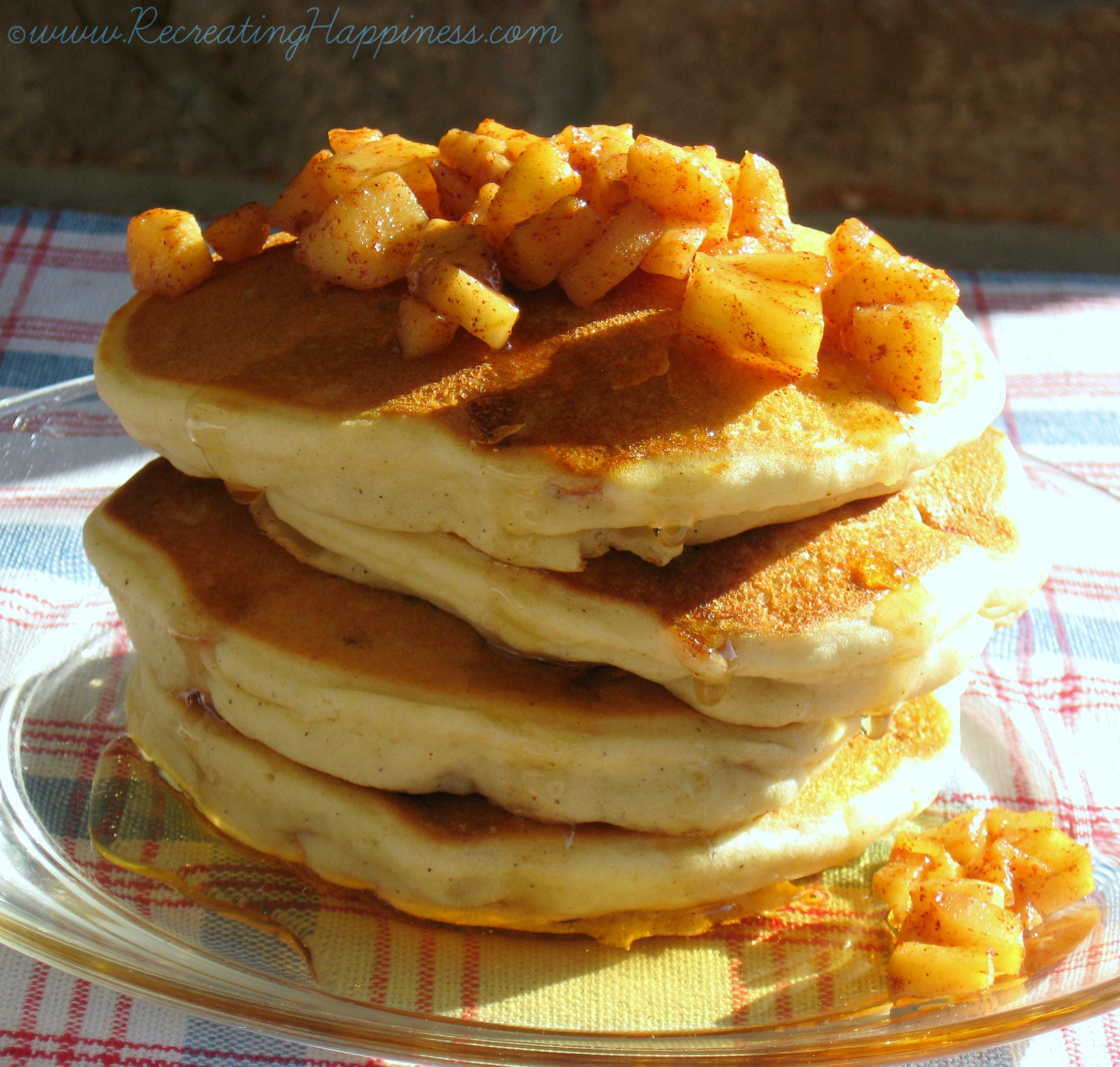 Caramelized Apple Pancakes {gluten free}