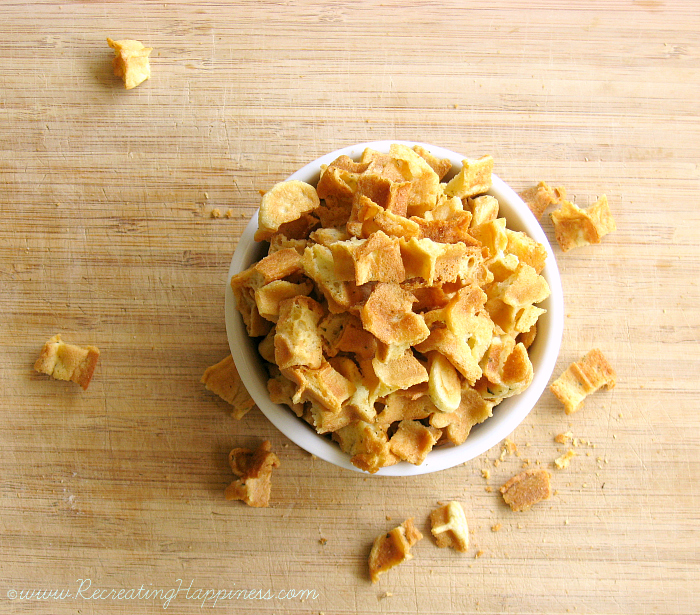 Gluten Free Croutons / Panko-Style Breadcrumbs | No Bread needed!