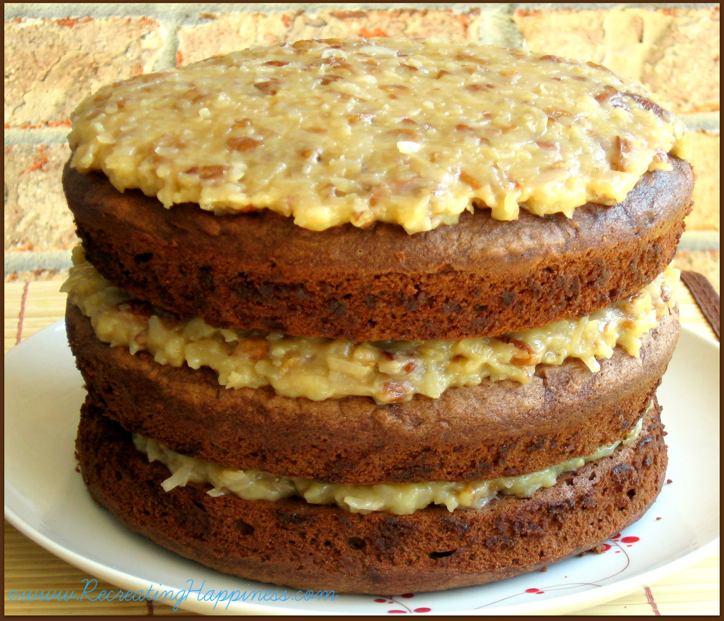 {gluten free} German Chocolate Cake