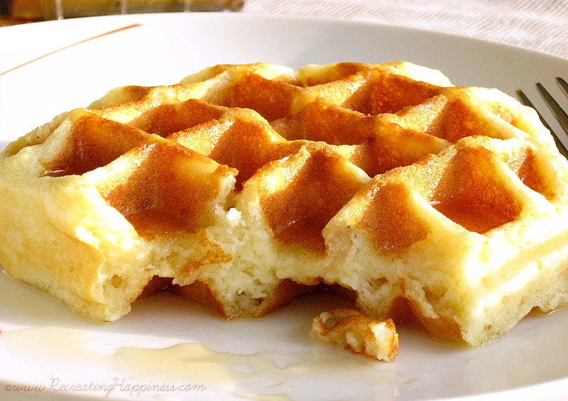Buttermilk Waffles | Gluten Free | Close Up: Texture