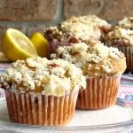 Buttermilk Lemon & Date Muffins with Almond Streusel
