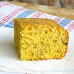 Cheesy Green Chile Sante Fe Cornbread