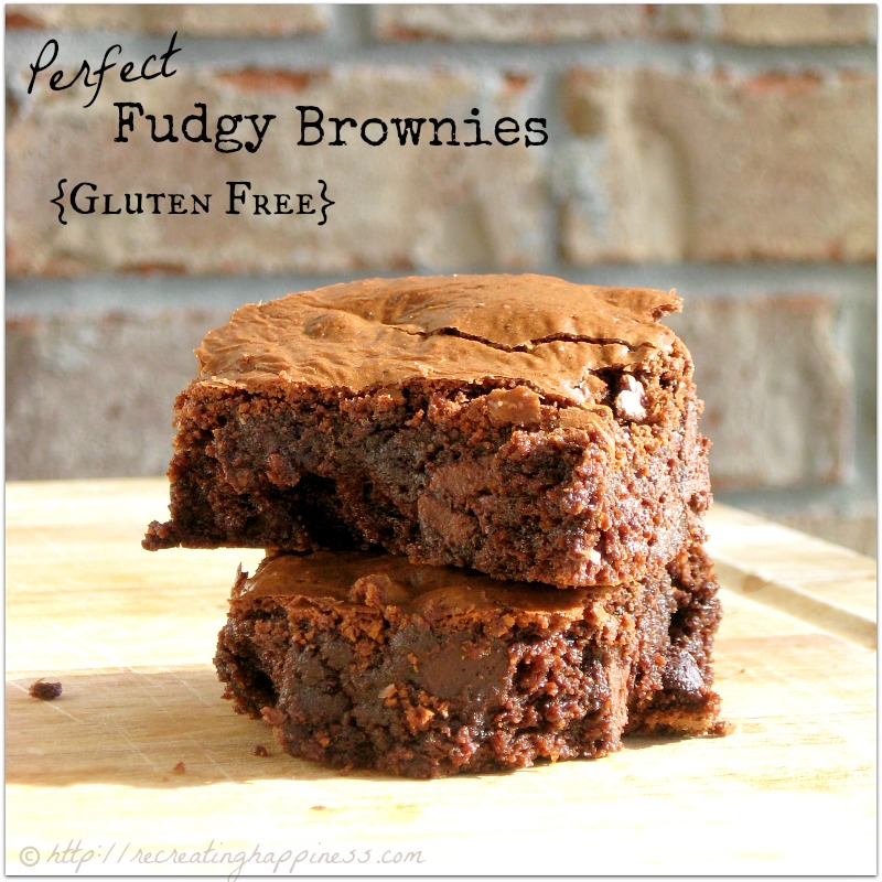 {gluten free} Perfect Fudge Brownies | Almond Flour | http://recreatinghappiness.com