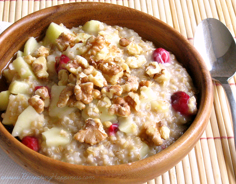 Steel Cut Oats: Fresh Cranberry Apple Walnut | High Protein Low Sugar Gluten Free | Nourishing Super Food