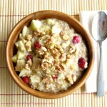 Steel Cut Oats: Fresh Cranberry Apple Walnut
