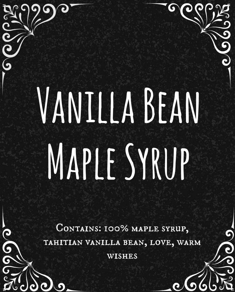 Label Download for Homemade Vanilla Maple Syrup #gift #Christmas