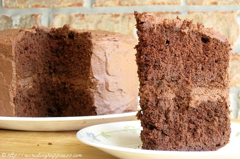 Chocolate Buttermilk Cake & Whipped Chocolate Cream Cheese Frosting ...