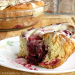 Cranberry Rolls with Orange Cream Cheese Icing