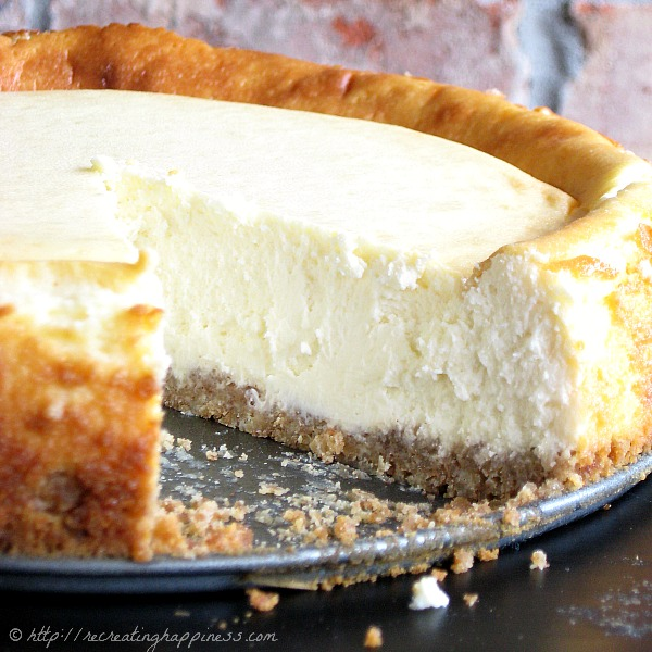 Naturally gluten free with a Chex cereal made crust - NY-style but even tastier! #cheesecake