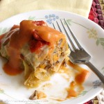 Southwest Cabbage Rolls with Smoky Tomato Cream Sauce
