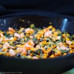Smoky Sweet Potato, Black Bean, Swiss Chard Dip