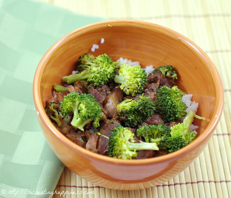 {Crockpot} Broccoli Orange Beef - use gluten free soy sauce