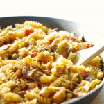 Roasted Eggplant and Leek Pasta