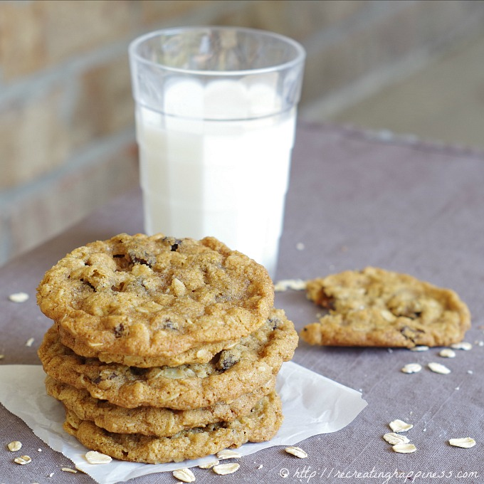 Soft homemade gluten free oatmeal raisin cookies