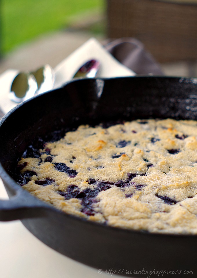Blueberry Cobbler:  Gluten & Grain Free, uses coconut flour