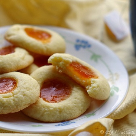 Gluten free tea cookies - shortbread cookies filled with jam or jelly