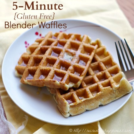 5 Minute Waffles that are gluten free!