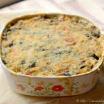 Creamy Chicken & Rice Bake with Spinach & Goat Cheese
