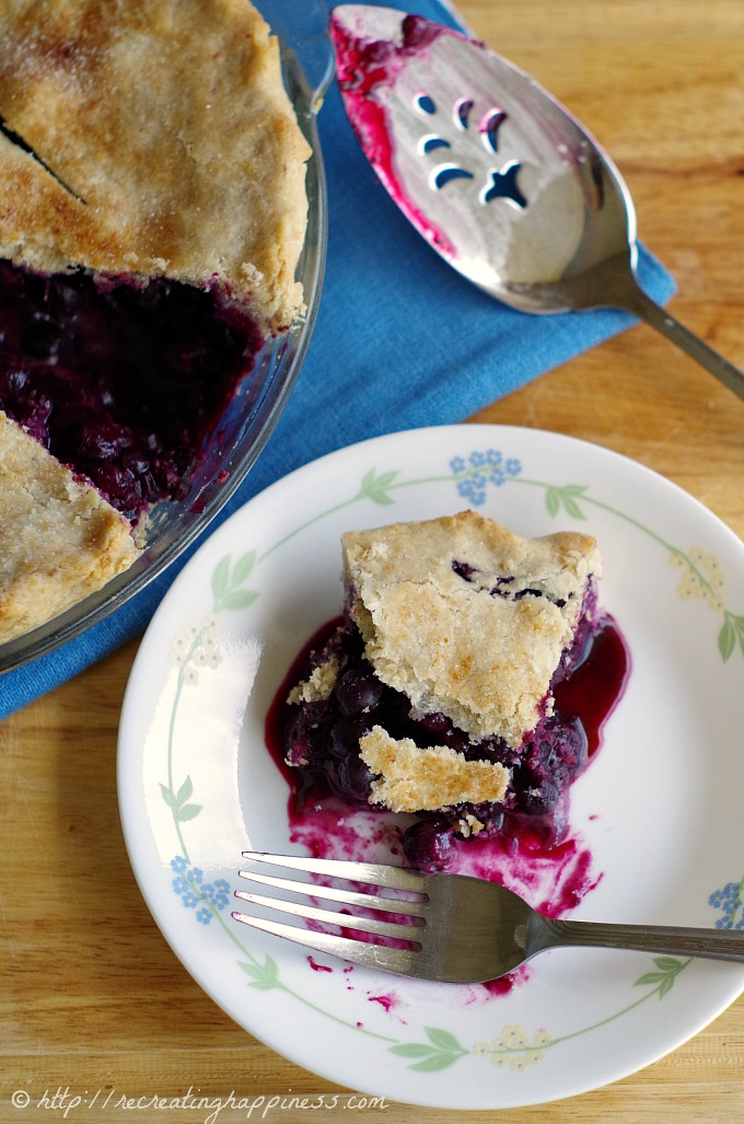Gluten Free Blueberry Pie - my grandma's blueberry filling recipe!