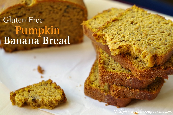 Pumpkin Banana Bread with Pumpkin Pie Spice - Dairy Free too!