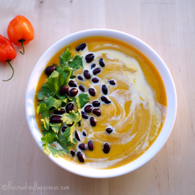Spiced Sweet Potato, Coconut Milk, & Black Bean Soup: gluten free, vegan & easy!
