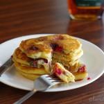 Vanilla Yogurt Pancakes & Raspberries