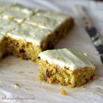 Carrot and Zucchini Bars with Orange Infused Cream Cheese Frosting