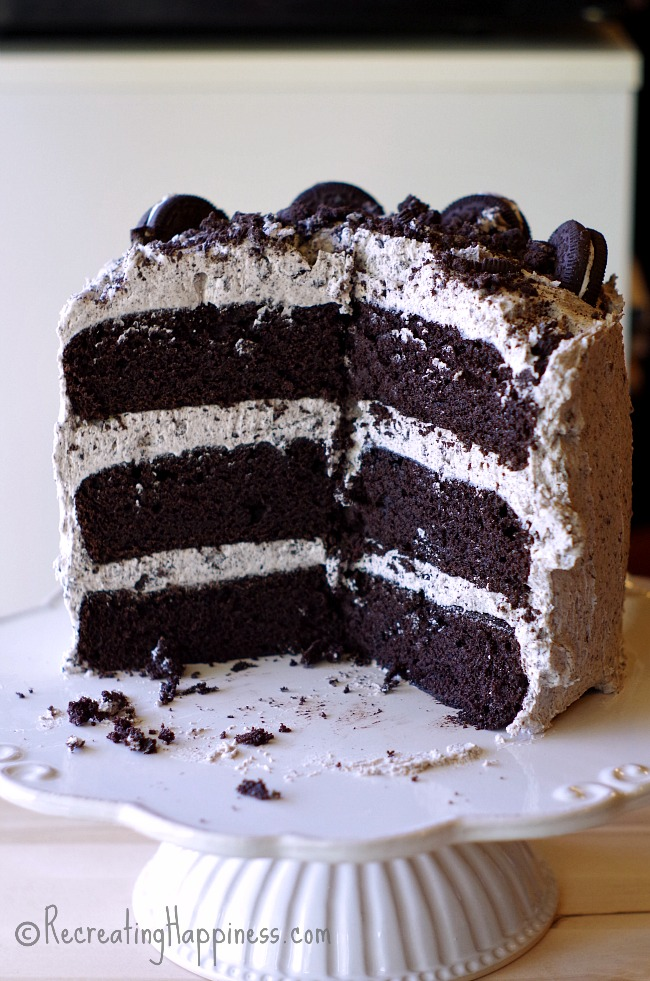 Gluten Free Cookies Cream Layer Cake